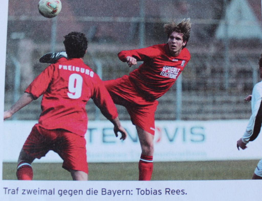 Foto von Tobias Rees beim Fussballspiel des SC Freiburg