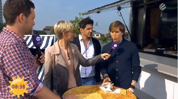Döner-Diät: Foto von Tobias Rees im Sat1 Frühstücksfernsehen.