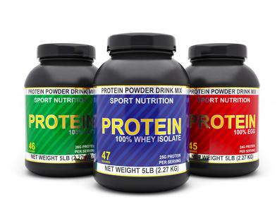 Proteinpulver und eiweißreiche Lebensmittel sind für den Muskelaufbau gleich effektiv.