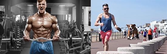 Creatin Dauereinnahme: Foto von den Sportarten Bodybuilding und Laufen