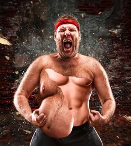 Viszeralfett: Foto von einem Mann der von dick zu dünn mutiert