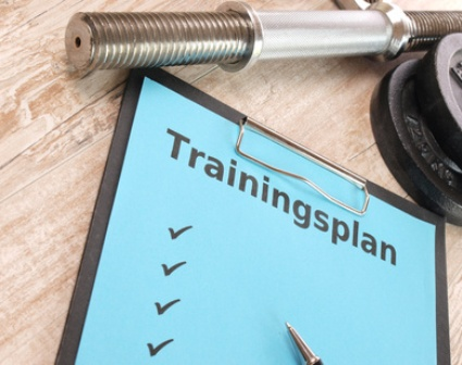 Ektomorph Trainingsplan: Foto von einem Trainingsplan