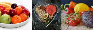 kohlenhydratarmes Frühstück: Foto von drei low-carb Lebensmitteln wie Obst, Fette und Gemüse