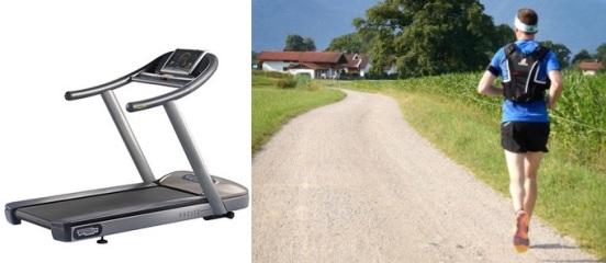 Leistungsumsatz berechnen: Foto von zwei Bildern mit Sportaktivitäten wie Laufband und Joggen