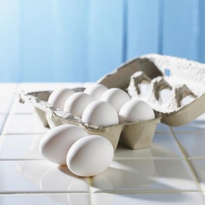 Muskelaufbau Tipps: Foto von einer Packung mit 8 Eiern