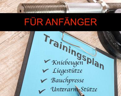 Foto von einem Ganzkörper Trainingsplan für Anfänger.