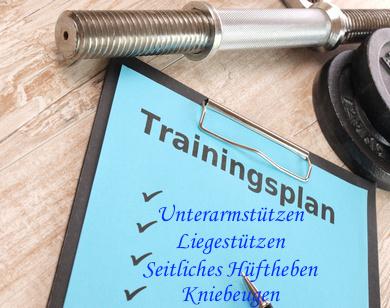 Foto von einem Ganzkörperkrafttraining Trainingsplan.