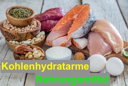 Kohlenhydratarme Nahrungsmittel mit viel Eiweiß und guten Fetten.