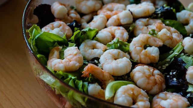 Foto von dem kohlenhydratarmen Nahrungsmittel Meeresfrüchte.