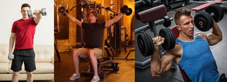 Foto von 3 Übungen für das Schultertraining Kurzhantel.