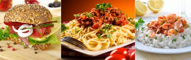 Ernährung an Traingstagen mit viel Kohlenhydraten und Eiweiß.