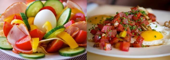 Wie motiviere ich mich zum Abnehmen? Foto von zwei kleinen eiweißhaltigen Mahlzeiten.