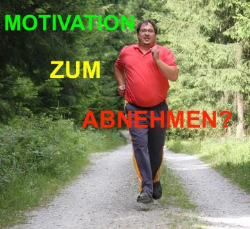 Wie motiviere ich mich zum Abnehmen? Foto von einem dicken Mann beim Joggen im Wald