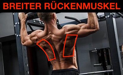 Breiter Rückenmuskel trainieren: Foto von der Rücken-Übung Klimmzüge.