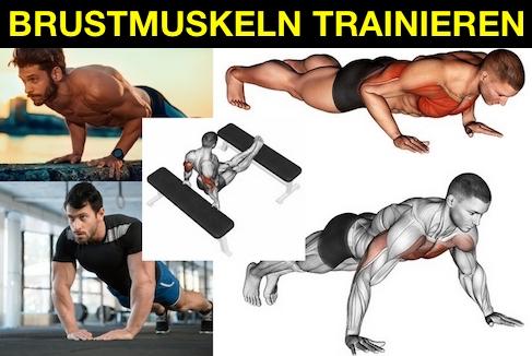 Foto von Übungen zum Brustmuskeln trainieren ohne Geräte.