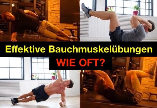 Effektive Bauchmuskel-Übungen wie oft?