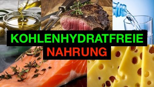 Kohlenhydratfreie Nahrung: Foto von fünf Lebensmitteln ohne Kohlenhydrate.