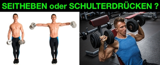 Kurzhantel Seitheben oder Kurzhantel Schulterdrücken
