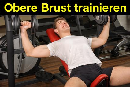 Obere Brust trainieren: Foto von der Übung Kurzhantel Schrägbankdrücken.