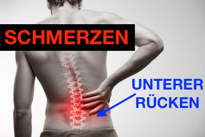 Schmerzen unterer Rücken: Foto von einem Mann mit Schmerzen im unteren Rücken.