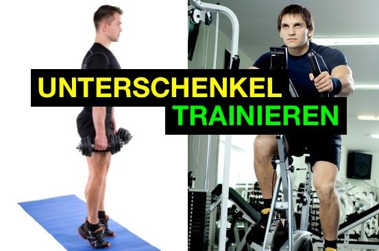 Unterschenkel trainieren durch Wadenheben und Radfahren.