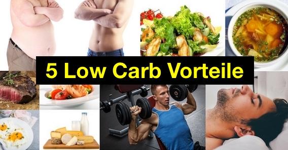 Foto von 5 Faktoren als Low Carb Vorteile.