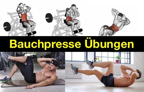 Foto von der Übung Bauchpresse Gerät und anderen Bauchpresse Übungen.