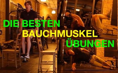 Bauchtraining jeden Tag: Foto von den drei besten Bauchmuskelübungen.