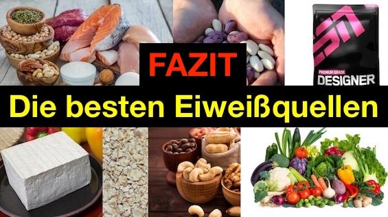 Die besten Eiweißquellen: Foto von proteinhaltigen Lebensmitteln.