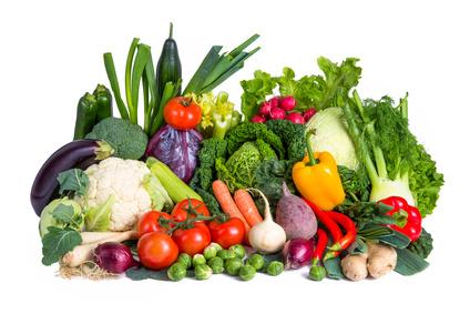 Eiweißquellen: Foto von verschiedenen Sorten Gemüse.