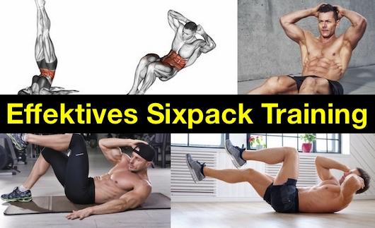 Effektives Sixpack Training: Foto von fünf Sixpack Übungen.