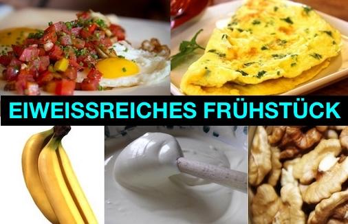 Foto von Beispielen für ein eiweißreiches Frühstück für Männer.