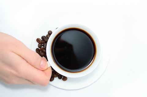 Kalorien killen: Foto von einer Tasse Kaffee.