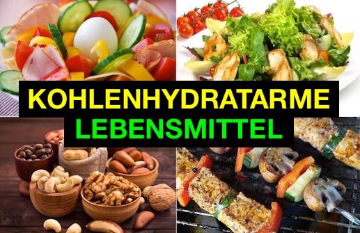 Kohlenhydratarme Lebensmittel: Foto von Essen mit wenig Kohlenhydraten.