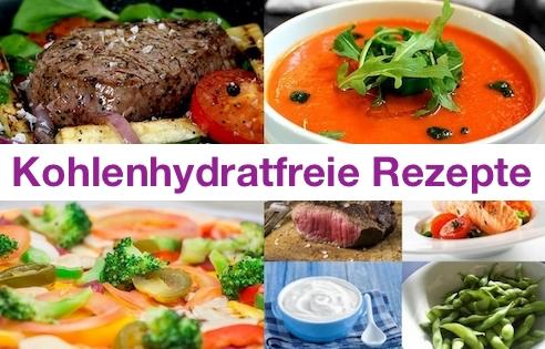 Foto von Beispielen für kohlenhydratfreie Rezepte.