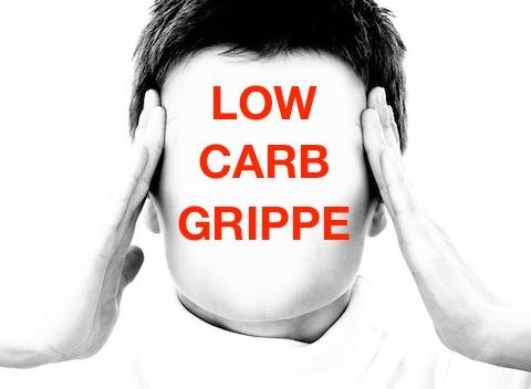 Low Carb Grippe: Foto von einem Kopf mit Kopfschmerzen.