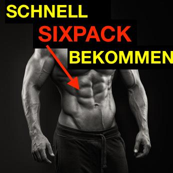 Schnell Sixpack bekommen: Foto von einem Mann mit starken Bauchmuskeln.