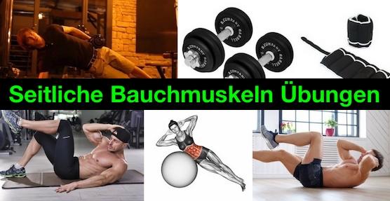 Foto von mehreren seitliche Bauchmuskeln Übungen.