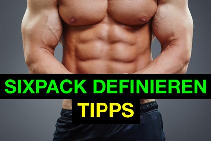 Sixpack definieren Tipps: Foto von einem Mann mit Sixpack.