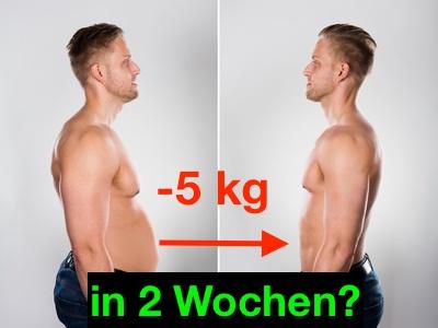 Sixpack in 6 Wochen: Foto von einem Mann mit dickem Bauch vorher und dünnem Bauch nachher.