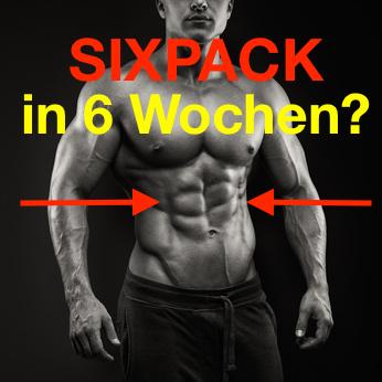 Sixpack in 6 Wochen: Foto von einem Mann mit Waschbrettbauch.