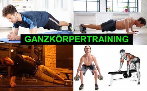 Sixpack Training für zuhause: Foto von einem Mann bei 5 Ganzkörpertraining Übungen.