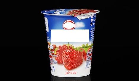 Ungesunde Nahrungsmittel: Foto von einem Fruchtjoghurt.