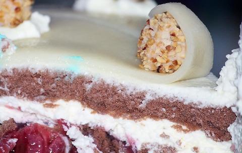 Ungesunde Nahrungsmittel: Foto von einem Stück Kuchen.