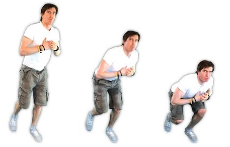 Foto von der Übung einbeinige Kniebeuge.