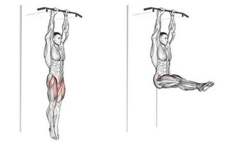 Foto von der Übung hängendes Beinheben.