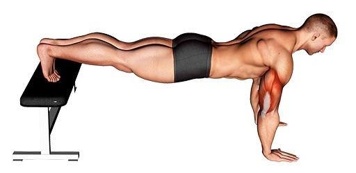 Brustmuskel Übungen: Foto von der Übung negative Liegestützen.