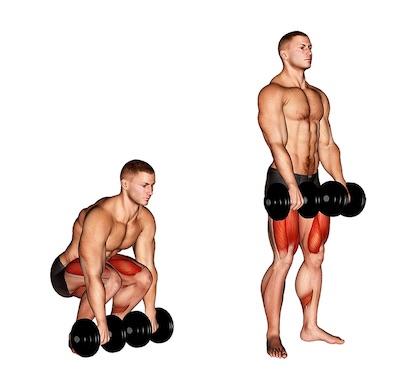 Übungen unterer Rücken im Stehen: Foto von der Übung KurzhantelKreuzheben klassisch.